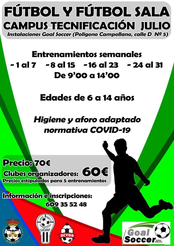La UDAF organiza un campus de fútbol y fútbol sala junto a Acyda y EFB Federativas