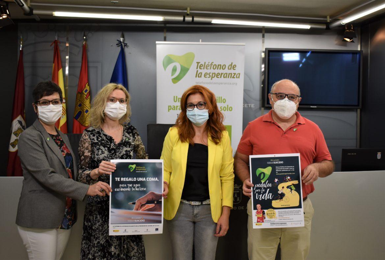 El Ayuntamiento de Albacete se suma a la campaña del Teléfono de la Esperanza con motivo del Día Internacional de la Prevención del Suicidio
