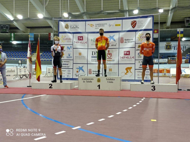 Pepe Moreno consigue la plata en la prueba del kilómetro CRI
