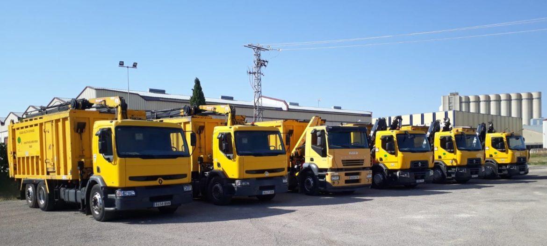 la Diputación de Albacete adquiere cinco camiones para reforzar la Recogida Selectiva de Envases y de Papel-Cartón en la provincia