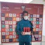 Álvaro Jiménez, mejor jugador del mes de enero en el Albacete