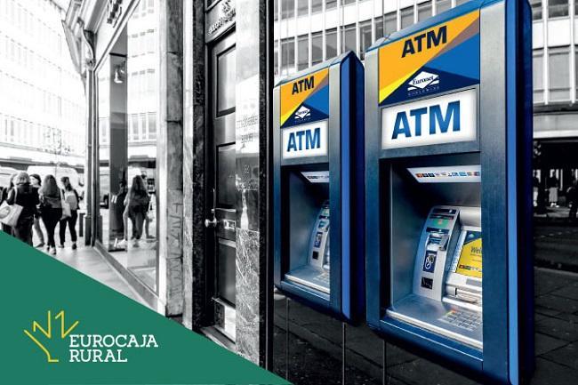 Los clientes de Eurocaja Rural podrán retirar efectivo sin coste en los más de 3.000 cajeros de Euronet en España
