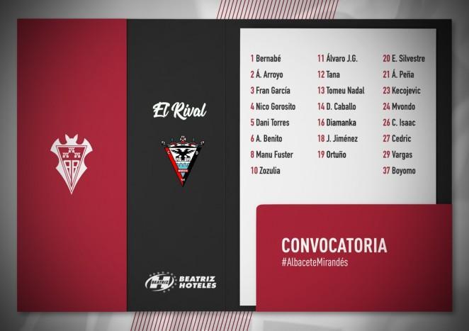 El Alba cuenta con todos los jugadores para medirse al Mirandés