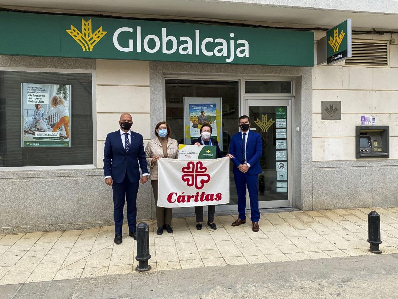Globalcaja colabora con el programa a la alimentación que Cáritas desarrolla en Viso del Marqués