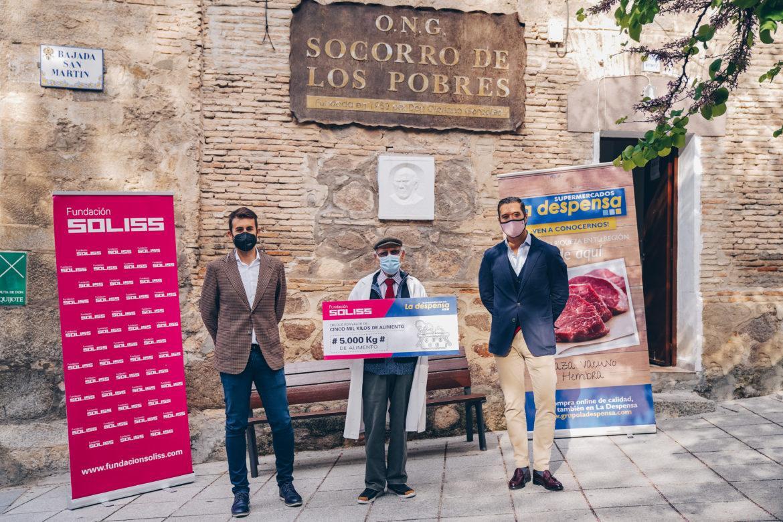 """La FUNDACIÓN SOLISS y el GRUPO LA DESPENSA donan 5000 kg de alimento a la ONG de Cipriano """"El amigo de los pobres"""""""