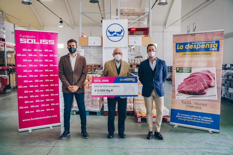La Fundación Soliss y el Grupo La Despensa donan al Banco de Alimentos 5000 kilos de productos de primera necesidad