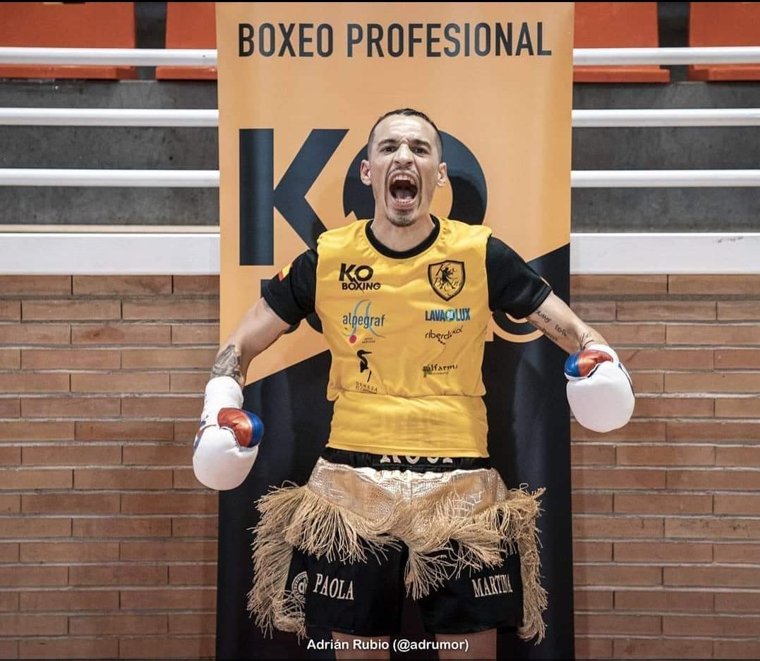 Jordi Martínez vence su segundo combate de boxeo profesional