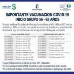 Sanidad inicia la vacunación frente a la Covid-19 del grupo de entre 56 y 65 años de la ciudad de Albacete el próximo sábado