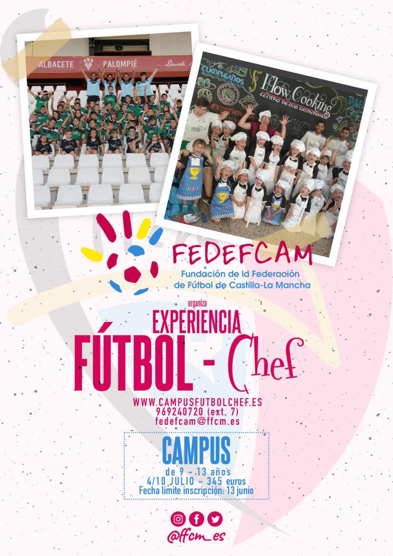 """Abierto el plazo de inscripción para el Campus Experiencia """"Fútbol-Chef"""""""