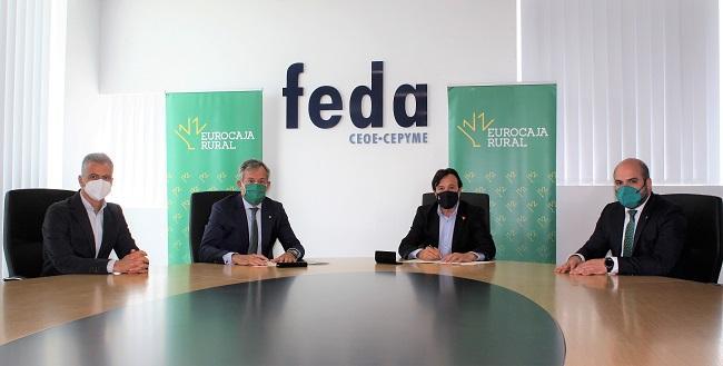Eurocaja Rural y FEDA reafirman su alianza respaldando proyectos empresariales para incentivar la actividad económica