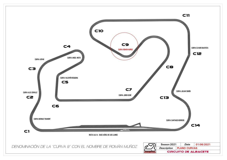Román Muñoz tendrá su curva en el Circuito de Albacete