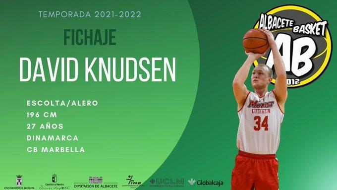 David Knudsen, quinto fichaje del Albacete Basket