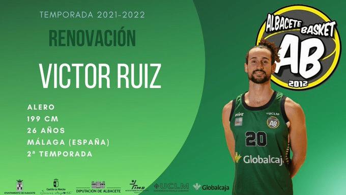 Víctor Ruiz renueva con el Albacete Basket