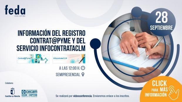 Jornada en FEDA sobre contratación pública, el registro Contrat@pyme y el servicio InfocontrataCLM