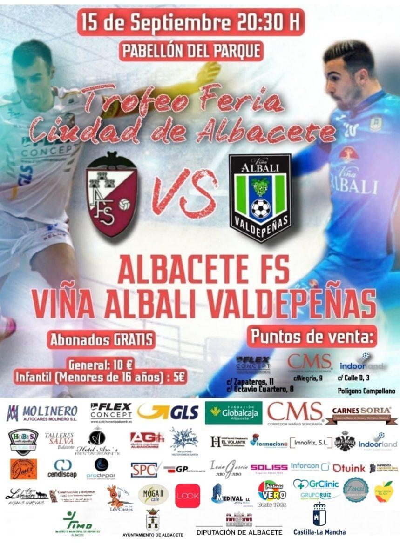 El Trofeo Feria Ciudad de Albacete de Fútbol Sala se presenta en el Ayuntamiento de Albacete