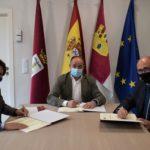 El Ayuntamiento firma un convenio de colaboración con la Fundación Globalcaja y Aguas de Albacete para la celebración del centenario de los Depósitos del Sol
